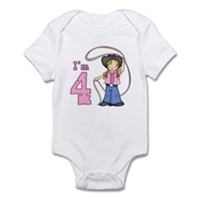Cowgirl Roper 4th Birthday Infant Bodysuit