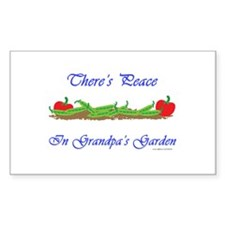 Grandpa's Garden Rectangle Decal