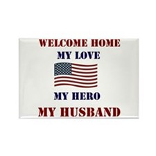 my hero my husband welcome home Rectangle Magnet (