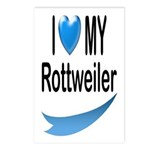 I Love My Rottweiler Postcards (Package of 8)