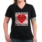 Test Drive Women's V-Neck Dark T-Shirt