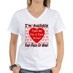 Test Drive Women's V-Neck T-Shirt