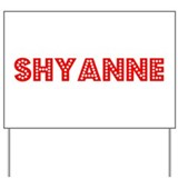 Retro Shyanne (Red) Yard Sign