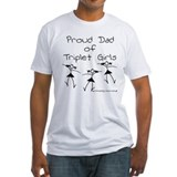Proud Dad of Triplet Girls Shirt