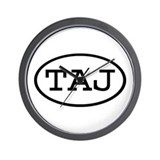 TAJ Oval Wall Clock