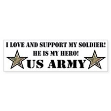 US ARMY SOLDIER STARS Bumper Bumper Sticker