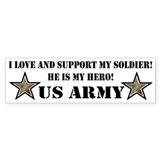 US ARMY SOLDIER STARS Bumper Bumper Stickers