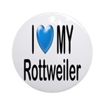 I Love My Rottweiler Keepsake (Round)