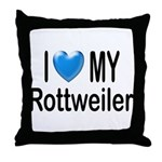 I Love My Rottweiler Throw Pillow