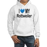 I Love My Rottweiler Hooded Sweatshirt