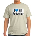 I Love My Rottweiler Ash Grey T-Shirt