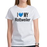 I Love My Rottweiler Women's T-Shirt