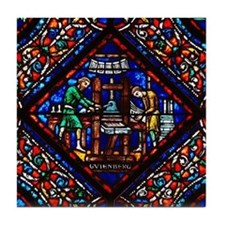 Riverside Church Gutenberg Tile Coaster