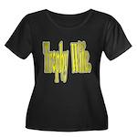 Trophy Wife Women's Plus Size Scoop Neck Dark T-Sh