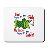 Dad Uncle Fish Mousepad