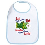 Dad Grandpa Fishing Bib
