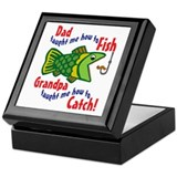 Dad Grandpa Fishing Keepsake Box