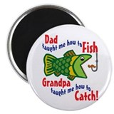 Dad Grandpa Fishing Magnet