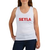 Retro Skyla (Red) Women's Tank Top