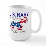 U.S. Navy Freedom Isn't Free Large Mug