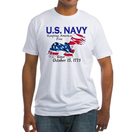 U.S. Navy Freedom Isn't Free Fitted T-Shirt