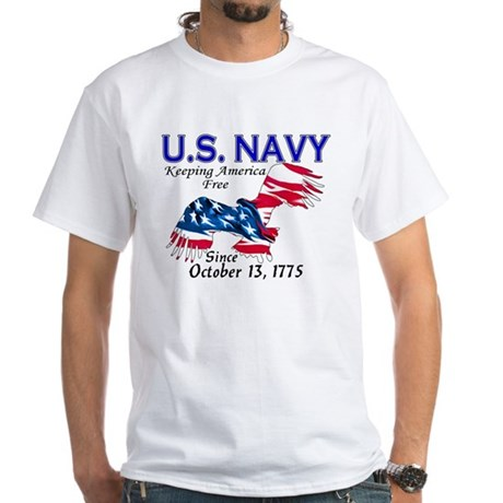 U.S. Navy Freedom Isn't Free White T-Shirt