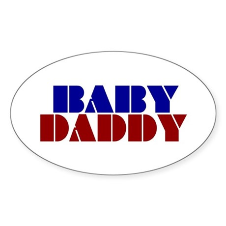 Baby Daddy Oval Sticker (50 pk)