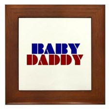 Baby Daddy Framed Tile