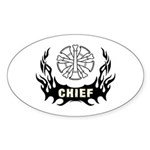 Fire Chief Tattoo Sticker (Oval 10 pk)