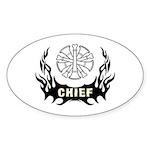 Fire Chief Tattoo Sticker (Oval 50 pk)