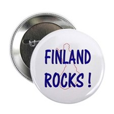 "Finland Rocks ! 2.25"" Button (10 pack)"