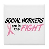 Social Workers In The Fight Tile Coaster