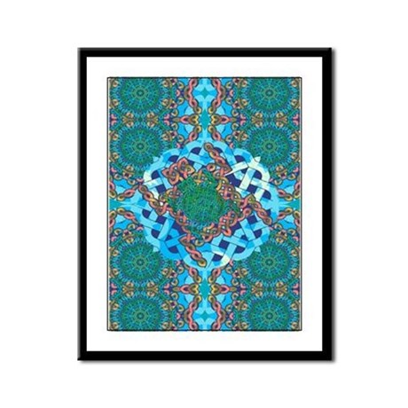 Celtic Turtle Framed Panel Print