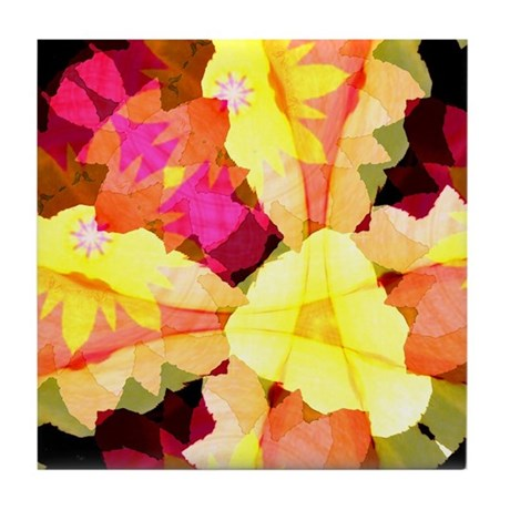 Bright Flowers Tile Coaster