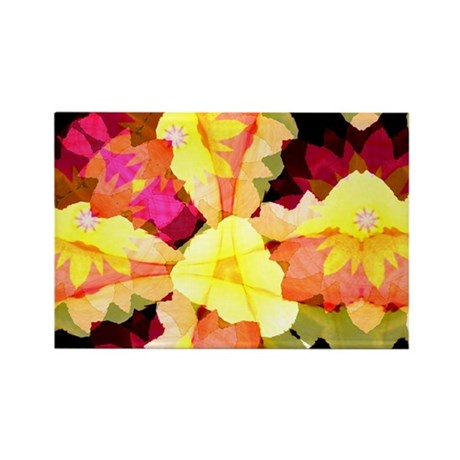 Bright Flowers Rectangle Magnet