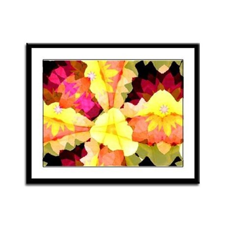 Bright Flowers Framed Panel Print