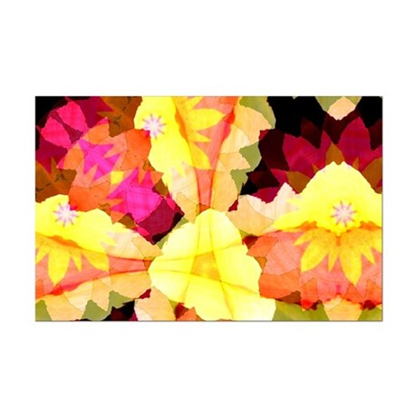Bright Flowers Mini Poster Print