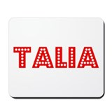 Retro Talia (Red) Mousepad