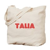 Retro Talia (Red) Tote Bag