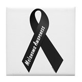 Melanoma Awareness 1 Tile Coaster
