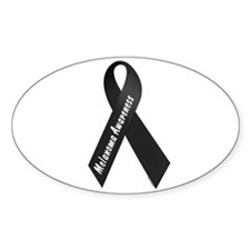 Melanoma Awareness 1 Oval Sticker (50 pk)