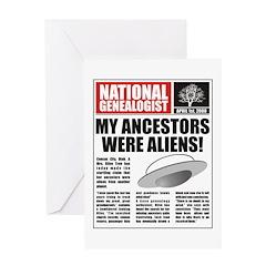 Ancestors Were Aliens Greeting Card