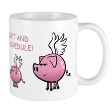 Skuzzo On Schedule Flying Pig Mug