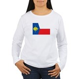 WAKE-ISLAND Womens Long Sleeve T-Shirt