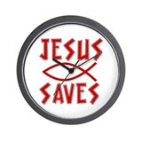 Jesus Saves! Wall Clock