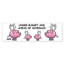 Skuzzo Flying Pig Bumper Bumper Sticker