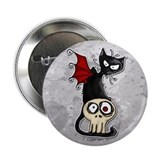 "Voodoodle - Fang Kitty 2.25"" Button"