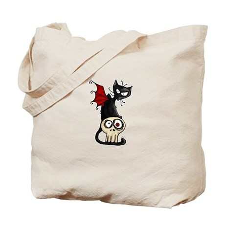 Voodoodle - Fang Kitty Tote Bag