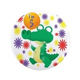 "I'm 5 Birthday Alligator 3.5"" Button"