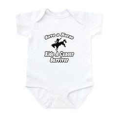 """""""Save Horse, Ride Cancer Survivor"""" Infant Bodysuit"""